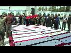 اليمن اليوم- شاهد تشييع العشرات من قتلى الفوعة وكفريا قرب دمشق