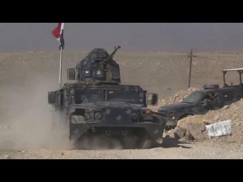 اليمن اليوم- شاهد القوات العراقية تستعد لاقتحام مطار الموصل