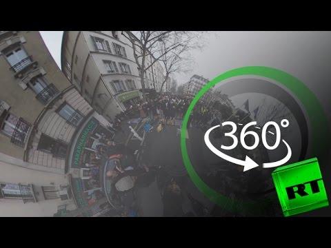 اليمن اليوم- شاهد مسلمو باريس يصلون من أجل مسجد كليشيلاغارين