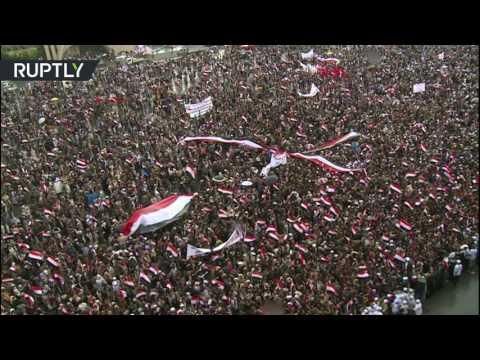 اليمن اليوم- بالفيديو  مظاهرات في صنعاء ترفض عمليات قوات التحالف العربي