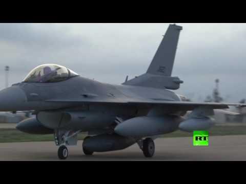 اليمن اليوم- بالفيديو  العراق يتسلم دفعة جديدة من مقاتلات إف 16 الأميركية