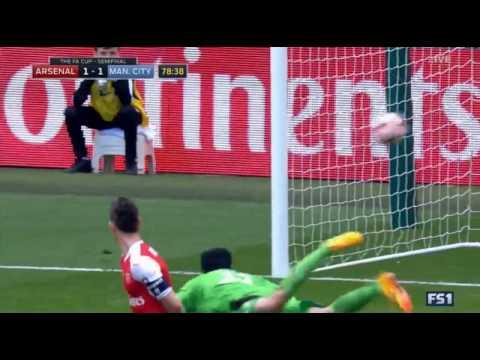 اليمن اليوم- شاهد هدف رائع من مباراة أرسنال و مانشستر سيتي