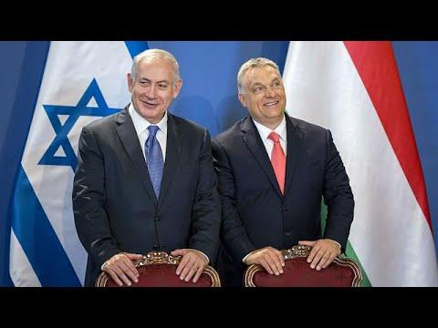 اليمن اليوم- شاهد نتانياهو في زيارة تاريخية إلى بودابست مسقط رأس هرتزل