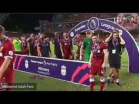اليمن اليوم- بالفيديو  سبب رفض محمد صلاح رفع كأس أول بطولة مع ليفربول