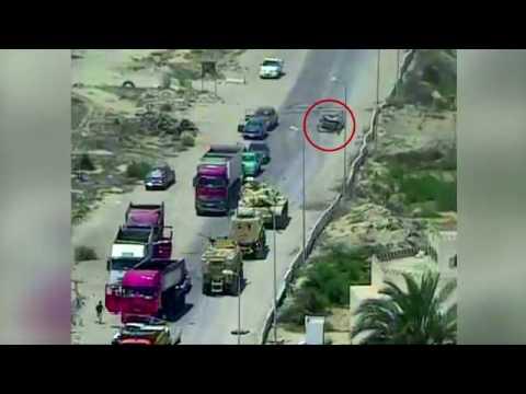 اليمن اليوم- شاهد القوات المسلحة المصرية تحبط محاولة لاستهداف أحد الإرتكازات الأمنية