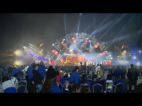 اليمن اليوم- شاهد مهرجان للنجوم الآسيوية في ألماتي