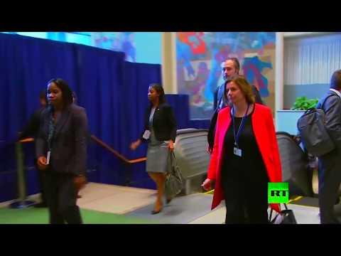 اليمن اليوم- شاهد لحظة وصول وفود العالم إلى مقر الأمم المتحدة في نيويورك