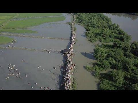 اليمن اليوم- شاهد أمواج بشرية من الروهينغا تواصل النزوح من بورما