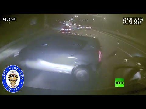 شاهد حادثة مروعة بعيون سائق نائم