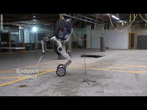 شاهد روبوت بعجلات يقفز كالحصان بشكل عجيب