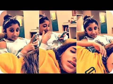 الممثلة ليلى عبدالله وشقيقتها في بث مباشر