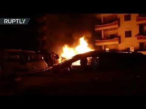 شاهد قصف تركي يخلف دمارًا في عفرين