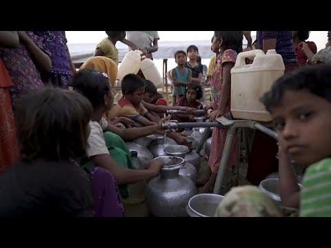 شاهد  يونيسيف تحذّر من خطورة وضع مئات الآلاف من أطفال الروهينغا المسلمين