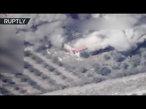 بالفيديو لحظة قصف طائرات عراقية لمواقع في سورية