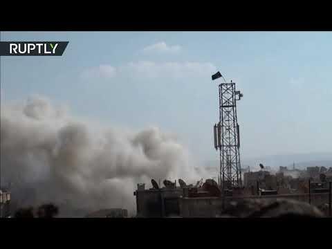 الجيش العربي السوري يقصف مواقع تنظيم داعش في جنوب دمشق