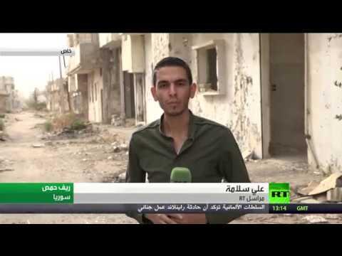شاهد  أسلحة ووثائق خلفها داعش قبل هزيمته في ريف حمص الشرقي