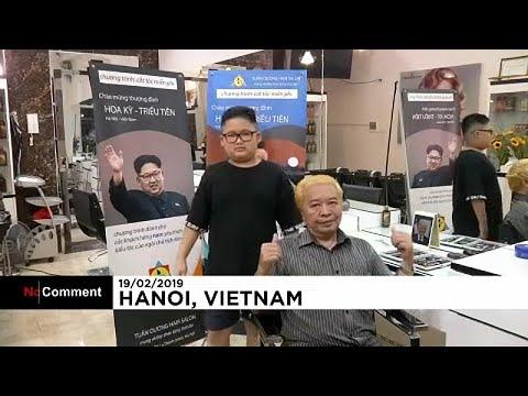 شاهد قمّة أميركية ـ كورية شمالية تنعقد داخل صالون حلاقة في فيتنام