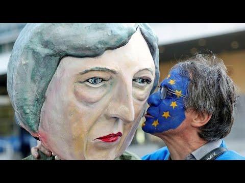 شاهد احتجاجات في بروكسل على قمة البريكست بالمجلس الأوروبي