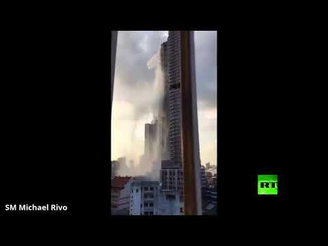 شاهد زلزال قاتل يُشكّل شلالاً من المياه في الفلبين