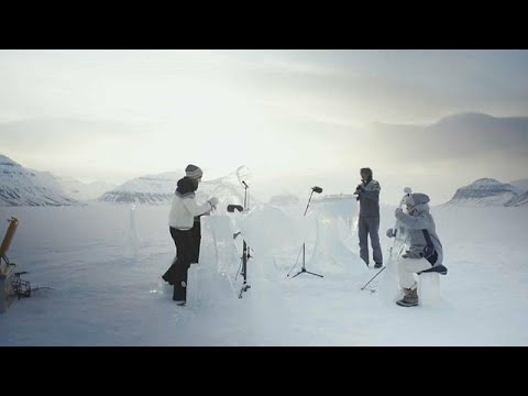 شاهد موسيقى عبر آلات جليدية للدعوة إلى الحفاظ على المحيطات