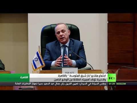 شاهد اجتماع وزراء الطاقة في منتدى غاز شرق المتوسط في القاهرة