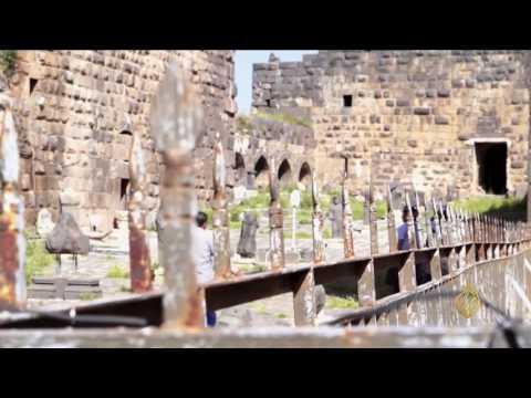 اليمن اليوم- شاهد جولة في مدينة بصرى الشام التاريخية