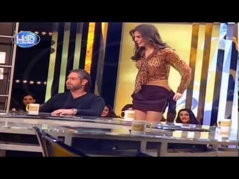 اليمن اليوم- بالفيديو  ملكة جمال لبنان تتعرض لموقف محرج