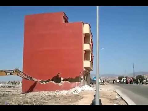 اليمن اليوم- شاهد أغرب عملية هدم منزل في المملكة المغربية
