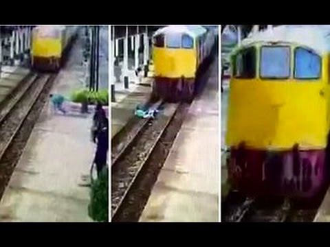 اليمن اليوم- بالفيديو قطار يدهس شابًا تايلانديًا إلا أنّ معجزة جعلته يمشي