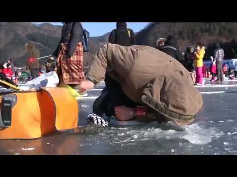 اليمن اليوم- شاهد الصيد وسط الجليد يجذب آلاف السياح فى كوريا الجنوبية