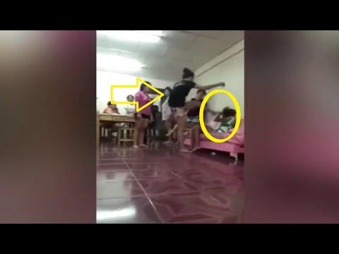 اليمن اليوم- بالفيديو سيدة غاضبة تلقن عشيقة زوجها علقة ساخنة وغير مسبوقة
