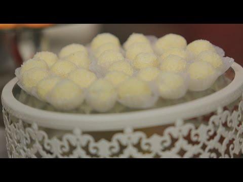 اليمن اليوم- طريقة إعداد كرات شوكولاتة بيضاء باللوز