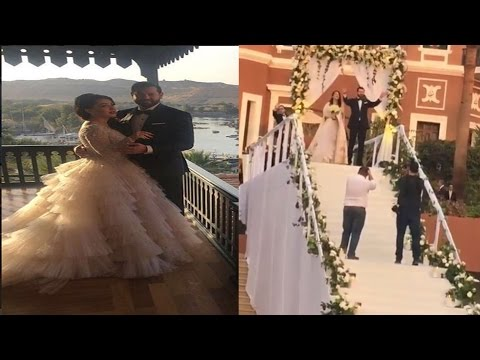 اليمن اليوم- شاهد دخول أسطوري لعمرو يوسف وكندة علوش خلال حفلة الزفاف