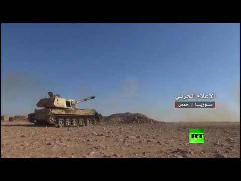 اليمن اليوم- الجيش السوري ينشر فيديو للمعارك في القريتين في محافظة حمص