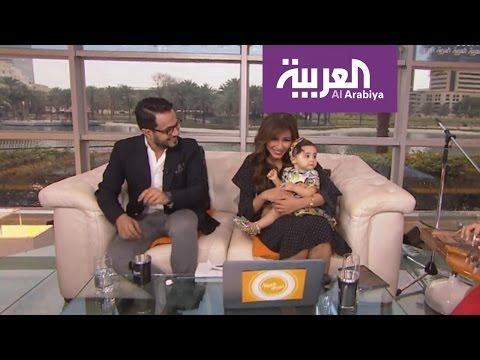 اليمن اليوم- ابنة مهيرة عبد العزيز تهنئها في صباح العربية