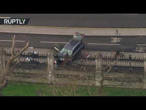اليمن اليوم- تصوير جوي للسيارة التي استخدمها منفذ هجوم لندن