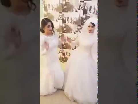 اليمن اليوم- رقصة عروستين احتفلتا بزفافهما في ليلة واحدة