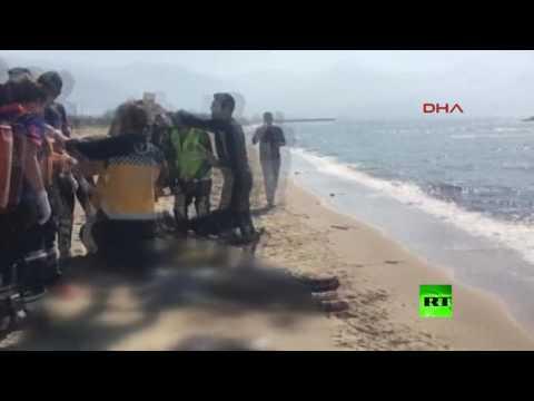 اليمن اليوم- بالفيديو غرق 11 مهاجرًا قبالة مدينة تركيا