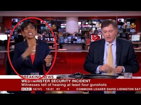 اليمن اليوم- شاهد مذيعة bbc ترتكب خطأ فادحًا خلال بث تقرير عن هجوم لندن