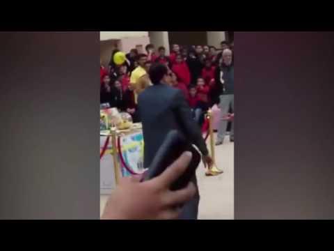 اليمن اليوم- شاهد مدير مدرسة في المعادي يرقص على أغنية فرح اللمبي