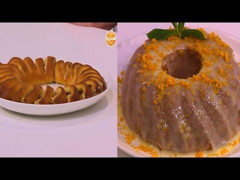 اليمن اليوم- بالفيديو طريقة إعداد ومقادير رول المكسرات  كيك زيت الزيتون وجليز البرتقال