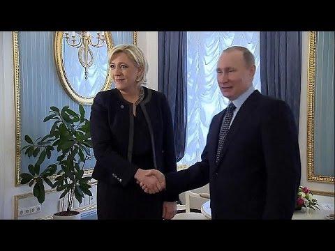 اليمن اليوم- الرئيس بوتين يلتقي بمارين لوبان زعيمة الجبهة الوطنية