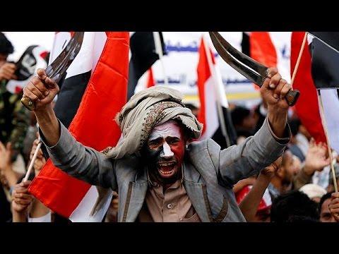 اليمن اليوم- بالفيديو مظاهرة حاشدة في صنعاء في الذكرى الثانية على بدء الحملة العسكرية للتحالف العربي