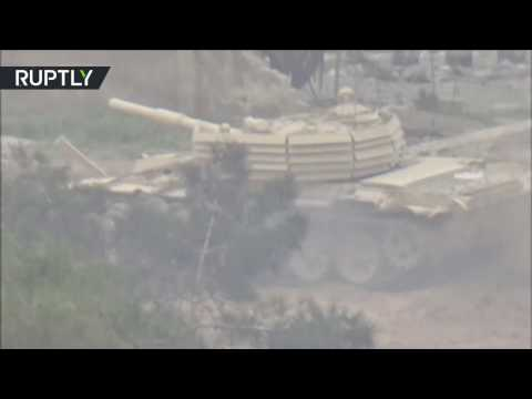 اليمن اليوم- شاهد الجيش العربي السوري يحارب المسلحين في حي جوبر