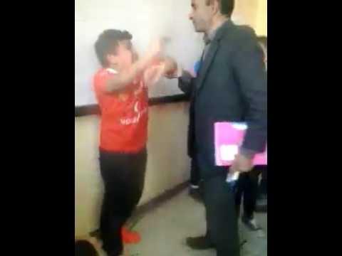 اليمن اليوم- لحظة اعتداء مدرس في المعادي على تلميذ