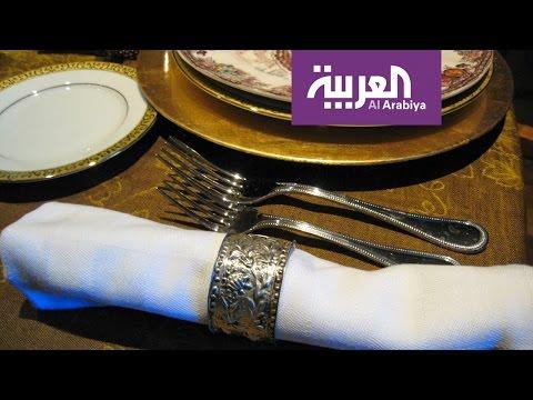 اليمن اليوم- شاهد طرق لتحويل مناديل الطعام إلى مروحة وباقة ورد في دقيقة