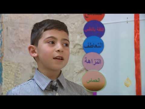 اليمن اليوم- شاهد مدرسة برام الله تودع البلاستيك نحو حياة خضراء