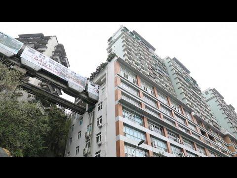 اليمن اليوم- شاهد مترو في الصين يمر من خلال شقة سكنية