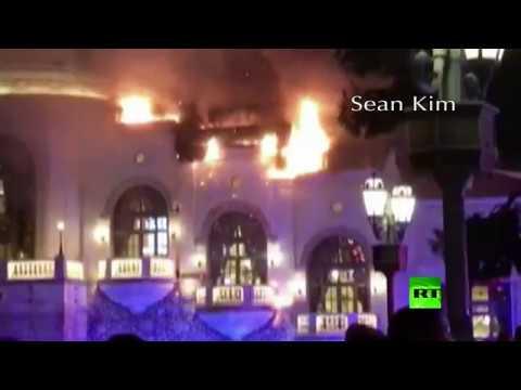 اليمن اليوم- حريق في أحد فنادق لاس فيغاس
