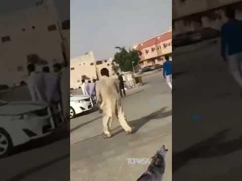 اليمن اليوم- شاهد شاب متهوّر يصدم رجلًا مسنًا في الرياض